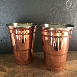 """Set of Copper """"Red Solo Cups"""""""